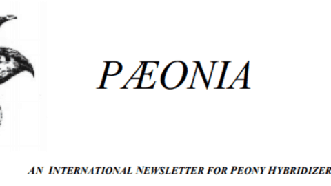 The Paeonia newsletter